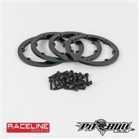 1.9 RACELINE #931 INJECTOR SCALE - BEADLOCK RINGS // BLACK