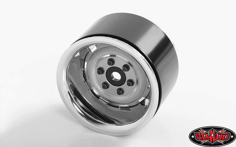 "RALLY 1.9"" BEADLOCK WHEELS (SILVER) - NEW"