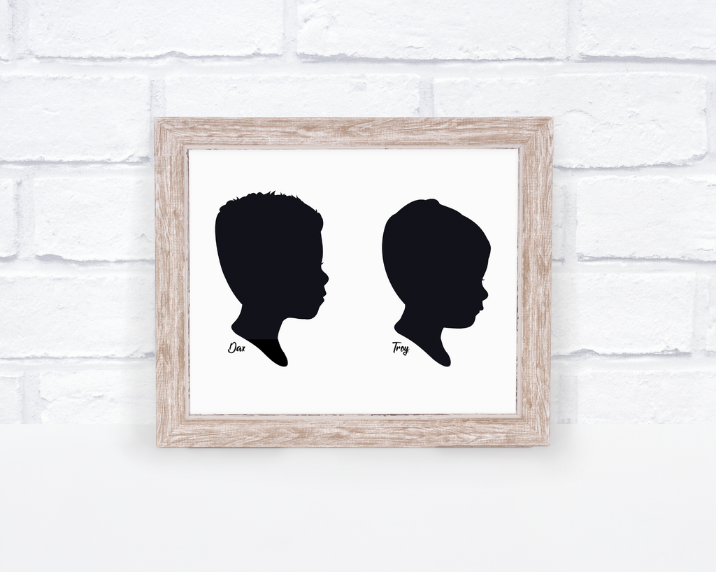 Silhouette Portrait Single or Family- White