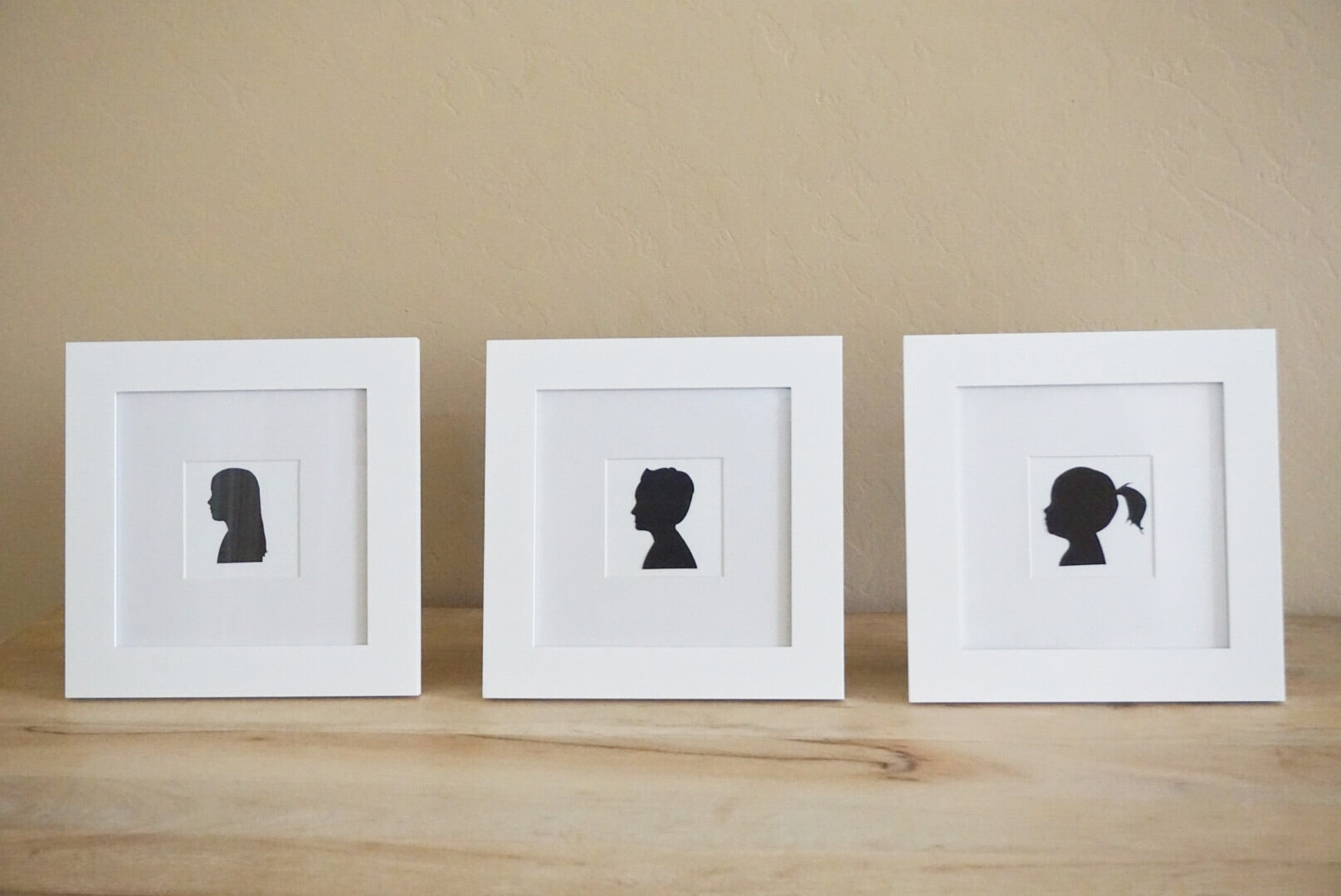 Framed Silhouette Portraits - White