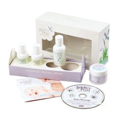 Organic baby massage gift set – fit for a Prince or Princess!