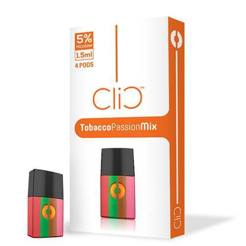 Clic Vapor - Refill Pods - Tobacco Passion Mix (4 Pack)