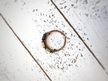Hex Ring . Carbon + Penny + Gold - The Branded Branch