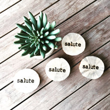 SALUTE Branded wood coasters - The Branded Branch
