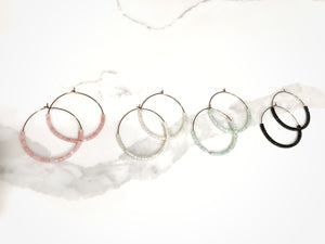 Delta Hoop Earrings + More colors available