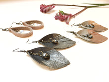 Feathered Leather Leaf + Swarovski Crystals - The Branded Branch