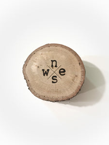 Compass Branded Oak Wood Coasters - The Branded Branch