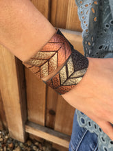 The Narrow Arrow | Metallic Ombré Leather Cuff Bracelet - The Branded Branch