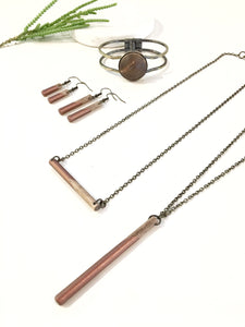 Classic Wood Dipped Pendant Necklace - The Branded Branch