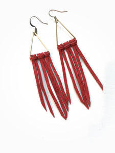 Fringe with Benefits Leather Earrings + More colors available