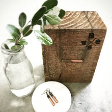 CARBON BLACK - Short - Classic wood dipped bar necklace - The Branded Branch
