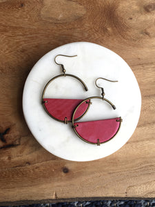 Barrel Hoop Earrings + More colors available
