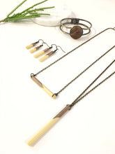 Classic Wood Dipped Bar Necklace - The Branded Branch