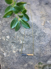 BAR - Short - Classic wood dipped bar necklace - The Branded Branch