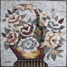3D Mosaic Flower Basket