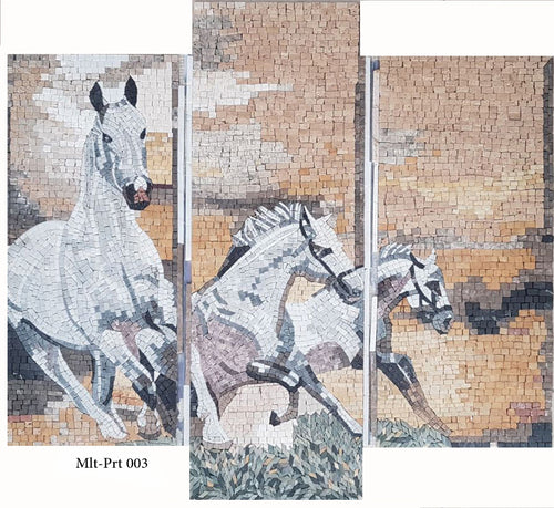 multi-part white horses