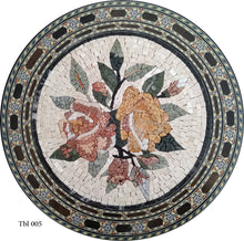Mosaic Tabletops, Flowers