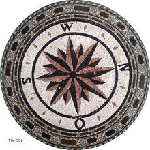 Mosaic Compass tabletop