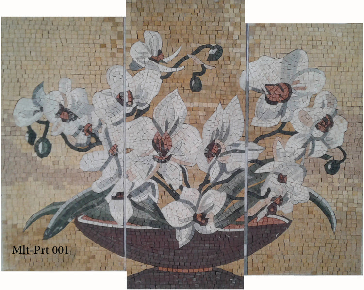 Multi-part mosaic vase