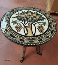 Mosaic table with arabesque