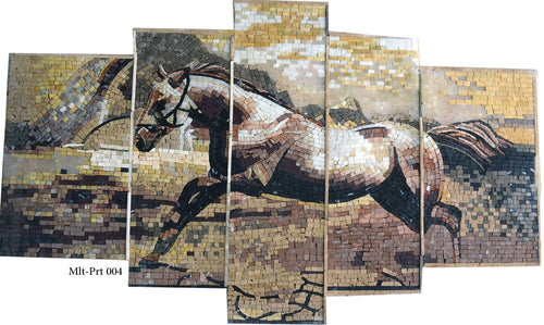 Multi-part Mosaic Horse