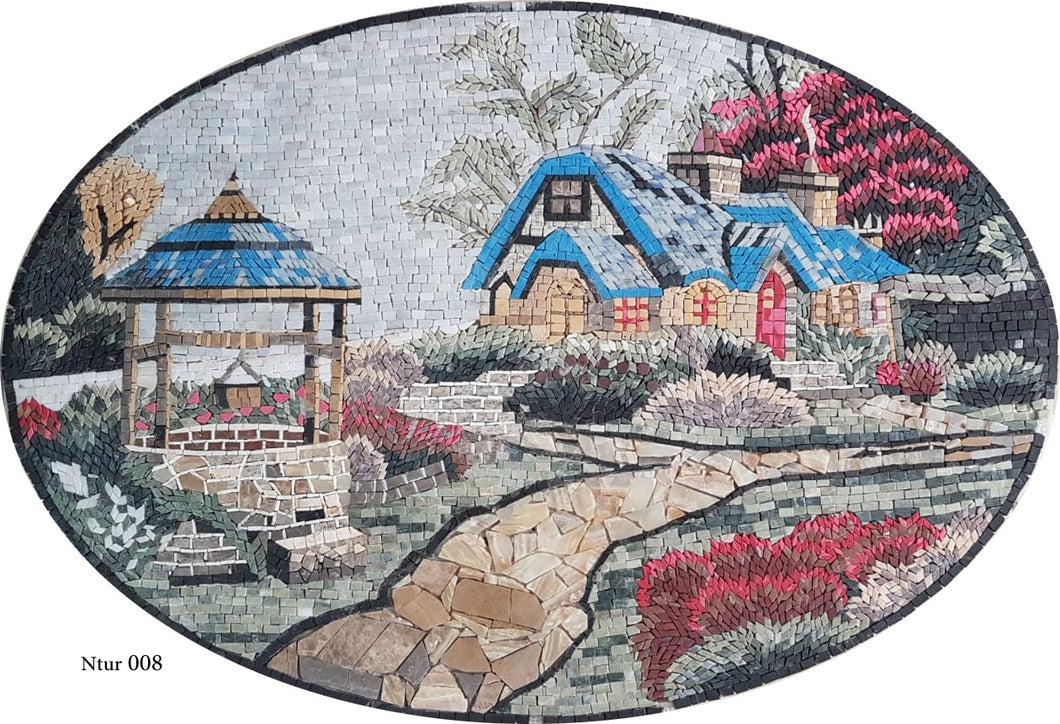 The rural mosaic house