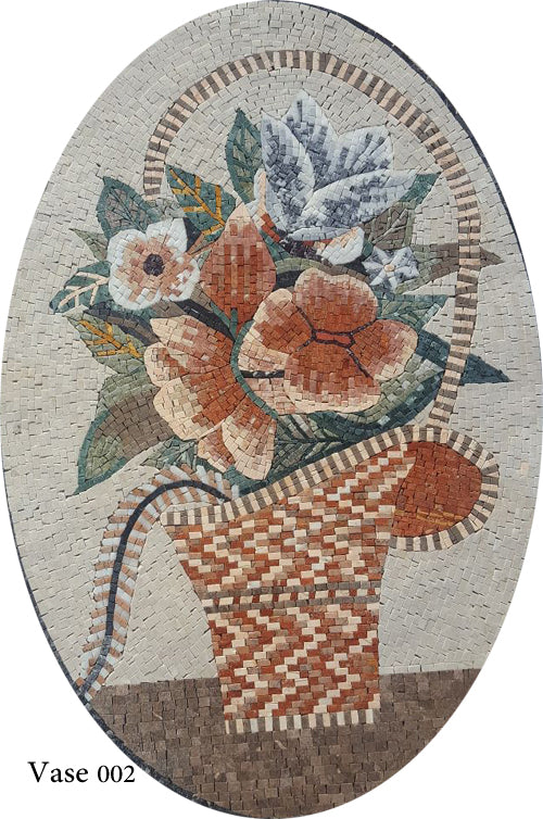 Mosaic Vase of flowers