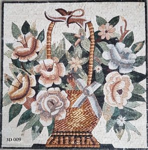 Mosaic Flower Basket