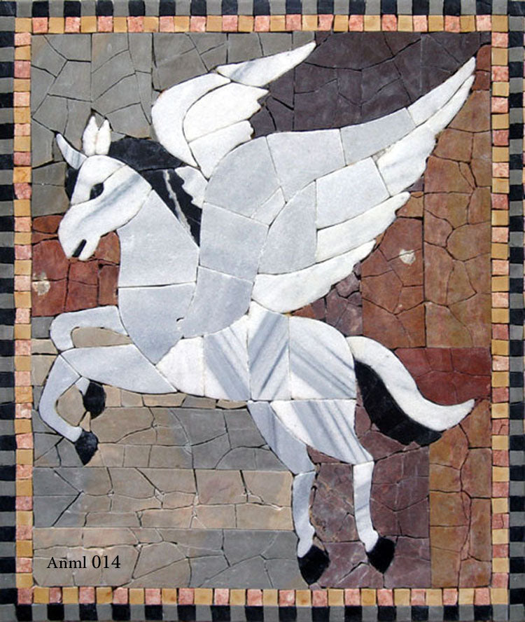 Mosaic Winged Horse