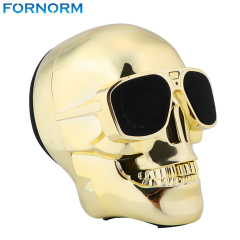 Fornorm Skull Wireless Bluetooth Speaker Sunglass NFC Skull Speaker Mobile Subwoofer Multipurpose Speaker