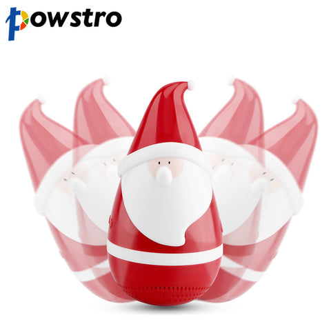 Powstro Cute Bluetooth Speaker Portable Stereo Wireless Santa Claus Speaker Christmas Gifts for Kids Friends Party
