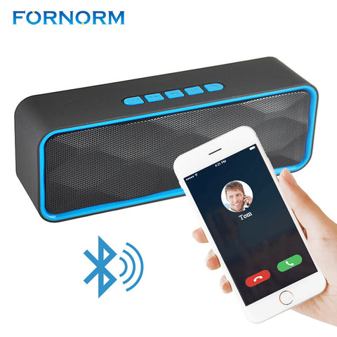 FORNORM Portable Waterproof Bluetooth Speaker Outdoors Family Stereo Wireless Speaker for Phone and Laptops Support 32G TF Card
