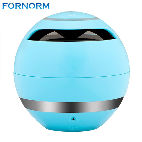 FORNORM Portable Small Wireless Bluetooth Speaker Rechargeable with Microphone Support Hands-free Call 3.5mm Audio Input TF Card
