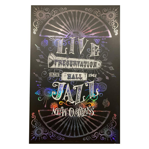 """Live Jazz"" Holographic 11x17"" Screen Printed Posters"