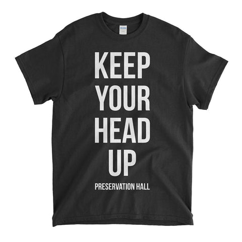 Keep Your Head Up Unisex Tee - Black