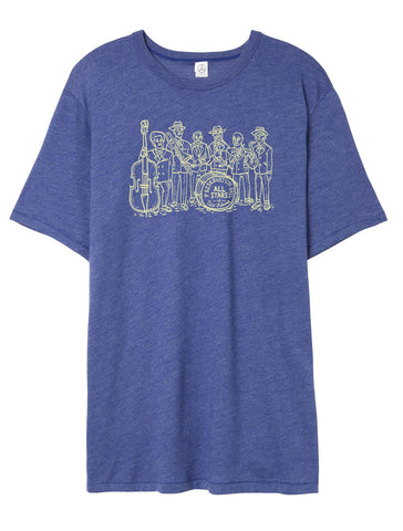 Pres Hall All Stars Illustrated Unisex Tee - Royal Blue