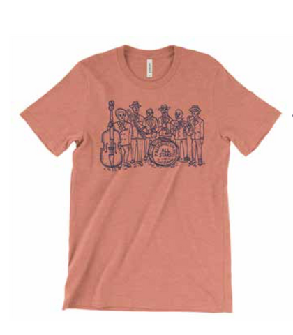 Preservation Hall All Stars Folk Art Unisex Tee - Heather Orange