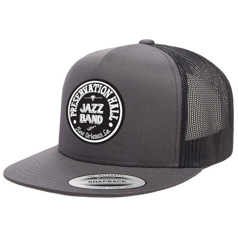 Grey PHJB Drum Logo Trucker Hat