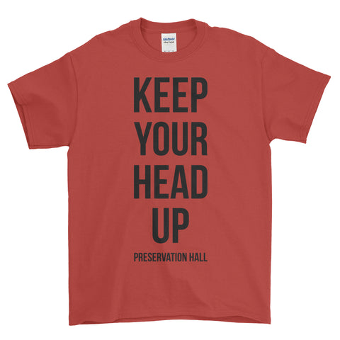'Keep Your Head Up' Red Unisex Tee