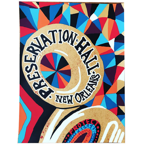 Limited Edition Screen Printed Tuba Poster
