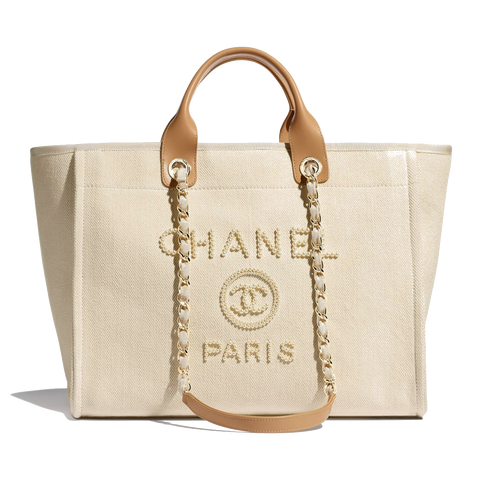 chanel shopping bag canvas