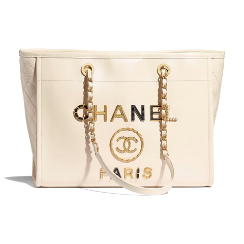 chanel shopping tote leather