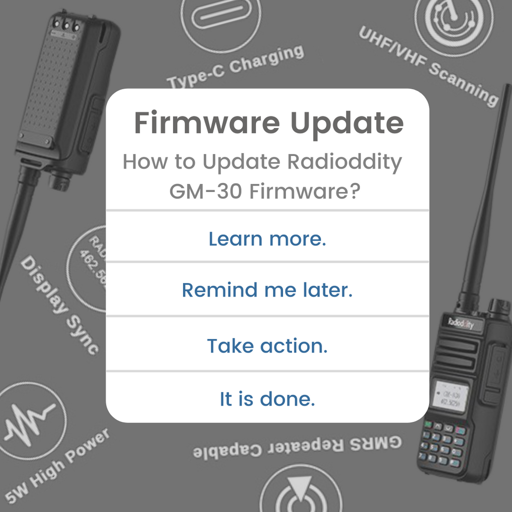 How to Update Radioddity GM-30 Firmware?