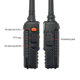 Baofeng UV-5R PLUS [5 Pack + Cable] | DUAL BAND | 4/1W | 128CH | FLASHLIGHT - Radioddity