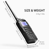 Baofeng DM-1701 DMR | Dual Band | 5W | 120K Contacts Import | SMS Function - Radioddity