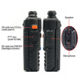 Baofeng UV-5R [2 Pack] | Dual Band | 4/1W | 128CH | Flashlight | VOX | Alert - Radioddity