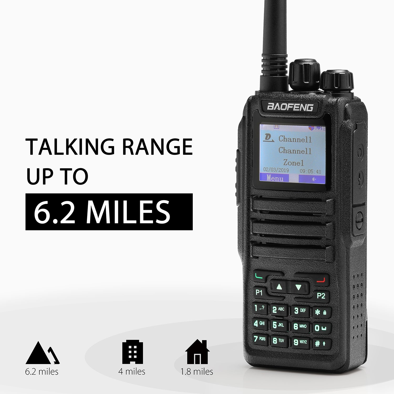 Baofeng DM-1701 DMR   Dual Band   5W   120K Contacts Import   SMS Function