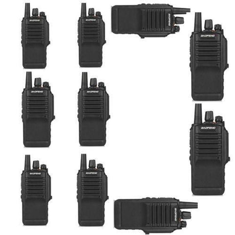Baofeng BF-9700 Waterproof Two-Way Radio [10 Packs] + Cable - Radioddity
