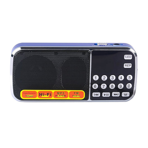 Radioddity L-088 Mini Digital FM LCD Radio Speaker - Radioddity
