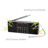Bluetooth Super Bass Speaker SD/TF MP3 Player AM/FM Radio [DISCONTINUED] - Radioddity